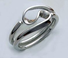Two Turn Vortex Energy Ring in 12 gauge Sterling Silver by isidro, $108.00