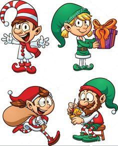 Find Cartoon Christmas Elf Characters Vector Clip stock images in HD and millions of other royalty-free stock photos, illustrations and vectors in the Shutterstock collection. Christmas Yard Art, Christmas Rock, Christmas Trends, Christmas Drawing, Christmas Paintings, Christmas Images, Christmas Cartoon Characters, Elf Characters, Christmas Cartoons