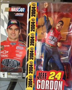 NEW 2004 MCFARLANE NASCAR SERIES 1 JEFF GORDON FIGURE SET