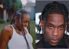 Kids Hairstyles Boys, Mens Braids Hairstyles, Twist Hairstyles, Travis Scott Hair, Travis Scott Braids, Box Braids Men, Male Braids, Quick Braids, Hair Twist Styles
