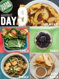 Clean Eating Challenge Day 9 This is a two-week detox plan that's actually realistic. You'll learn to eat healthy, feel awesome, and stay that way. Lunch Snacks, Healthy Snacks, Healthy Eating, Snacks Kids, Healthy Breakfasts, Protein Snacks, School Snacks, High Protein, Clean Eating Recipes