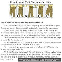 Amazon.com : 2 Tone Thai Fisherman Pants Yoga Trousers Free Size Cotton : Sports & Outdoors