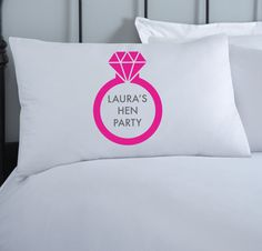 Hen Party Personalised Pillowcase | Bride to Be Gift | 1 pillowcase | Wedding Gift | Hen Do | Hens Night | Hens Weekend | Hen Party Styling