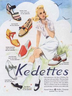 A stylishly fantastic array of Kedettes summer shoes from 1941.
