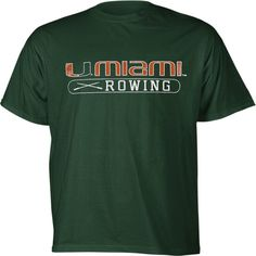 Miami Hurricanes Youth Green Rowing T-Shirt