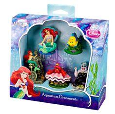 Amazon.com : Penn Plax Little Mermaid 5-Piece Mini Resin Ornaments for Aquariums…