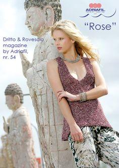 Rose #top, knitted with Margarita #yarn by #Adriafil, let's go #fashion!  http://www.adriafil.com/uk/scheda-filato.html?id_cat=12&id_gr=3&id_filato=GT