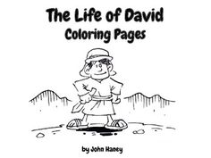 Free Resource Featuring Coloring Pages From The Bible Stories Included David Shepherd Davids Sheep And Goliath Flees