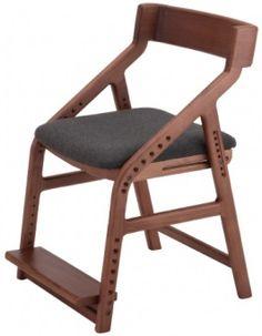 【E-TOKO】兒童實木多段式成長椅(深棕色)