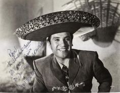 Miguel Aceves Mejía (November 15, 1915 – November 6, 2006) was a Mexican actor, composer, and singer. He became a popular Mexican film star during its golden age and was widely regarded for his interpretations of various Mexican musical folkloric genres, particularly the ranchera.