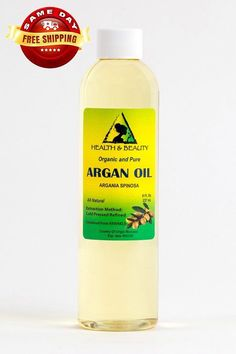 ORGANIC ARGAN OIL REFINED, COLD PRESSED, PURETHIS OIL SUITABLE FOR COSMETIC PURPOSEBotanical Name: Argania SpinosaExtraction Method: Cold PressedProcessing Type: RefinedObtained From: KernelsOrganic: made without pesticides, GMO's, or hexane.Ingredients: argan oil, 100% Pure with NO additives or carriers added.Description: Argan Carrier Oil is an oil produced from the kernels of the endemic Argan tree, that is valued for its nutritive, cosmetic and numero #LegHairRemoval Underarm Hair Removal, Hair Removal Cream, Pure Argan Oil, Organic Argan Oil, Organic Shampoo, Natural Shampoo, Broken Nails, Oil For Hair Loss, Hair Loss Shampoo