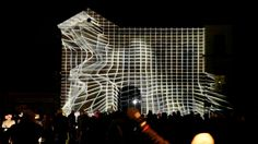 Interactive projection mapping and sound installation at Light Festival Ghent/Belgium 2015, by Klaus Obermaier.  http://www.exile.at/dancing_house | http://www.exile.at…
