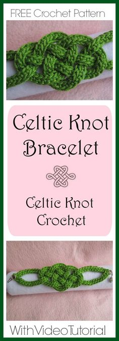 Celtic Knot Bracelet - Celtic Knot Crochet Just in time for St. Patrick's Day, this Celtic Knot Bracelet is a great project for beginners an Crochet Bracelet Pattern, Crochet Jewelry Patterns, Crochet Accessories, Bracelet Patterns, Irish Crochet Patterns, Crochet Jewellery, Celtic Patterns, Sewing Patterns, Blog Crochet