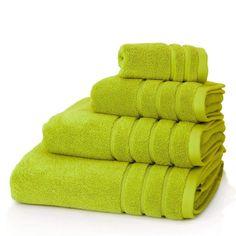 BRIGHT LIME GREEN GSM EGYPTIAN COTTON PIECE TOWEL BALE - Bhs monochrome word bath sheet bhs monochrome word hand towel