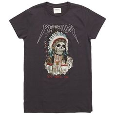 Yeezus Tour Merch Indian Chief T-Shirt ($40) ❤ liked on Polyvore featuring men's fashion, men's clothing, men's shirts, men's t-shirts, tops, t-shirts, tees, shirts, black and mens t shirts