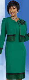 Ben Marc Executive 11635 Jacket & Dress Suit With Houndstooth Pattern Trim