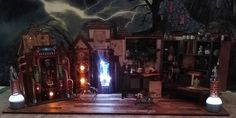 Artfully Musing: HALLOWEEN VILLAGE MAD SCIENTIST LABORATORY – VIDEO TUTORIAL, NEW COLLAGE SHEET & DIGITAL IMAGE SETS