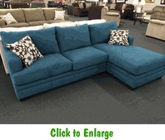 Caprice Mermaid 2 Piece Sectional By Simmons At Furniture Warehouse | The  $399 Sofa Store