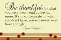 Thankful Oprah Quote
