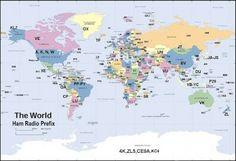 Amateur Radio World: International Amateur Radio Prefixes #hamradio