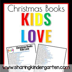 Christmas Books Kids Love List
