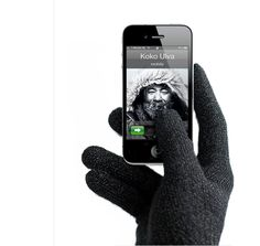 Touchscreen gloves with conductive properties.