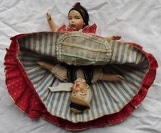 Vintage Spanish Lady Double headed Doll