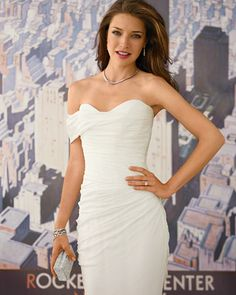 Ramona Keveza Goddess gown. This gown is really stunning and makes bride look very slim. Have seen it twice on  say Yes to Dress