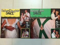 Wedding mother son dance father daughter dance scrapbook pages