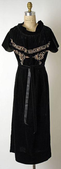 "Dress, Callot Soeurs (French, active 1895–1937): ca. 1922, French.    Marking: [label] ""Callot Soeurs, Paris"""