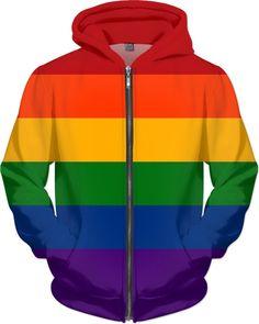 Solid Rainbow Pride Flag