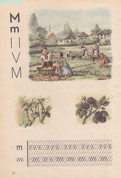 Abecedar 1959 – Un zâmbet de copil… Romanian Language, Vintage School, Kids Education, Book Illustration, Vintage Images, Vintage World Maps, Nostalgia, Activities, Learning