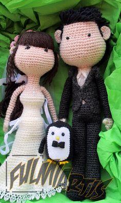 Amigurumis personalizados para una boda especial.