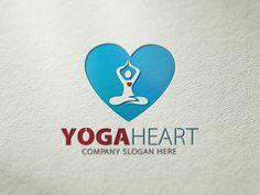 Yoga Heart Logo @creativework247