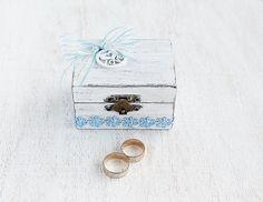 White Beach Ring Box Custom Ring Box Shabby by LittleWoodCottage