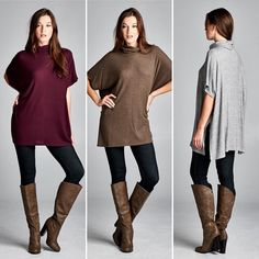 T16316 Loose fit short dolman sleeves turtle neck tunic top. Has side slits. This tunic top is made with medium weight brushed two-toned ribbed knit fabric that has a very soft fuzzy texture drapes well and is very warm. This fabric has good stretch.  #cherishusa #cherishapparel #shopcherish #fallfashion #fashionbuyer #boutique #fashion #fashiondiaries #instafashion #instastyle #fashionstyle #ootd #fashionable #fashiongram #fallstyle #clothingbrand #fall2015 #fallfashion #top #turtleneck…