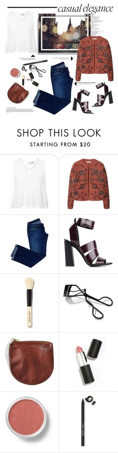 """""""Casual."""" by vigilexi ❤ liked on Polyvore featuring Miguelina, MANGO, Dsquared2, Proenza Schouler, Bobbi Brown Cosmetics, BAGGU, Sigma Beauty, Bare Escentuals, women's clothing and women"""