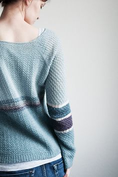 Orza Pullover by La Maison Rililie: FO with modified neckline by Trin-Annelie on ravelry. #knitting #pattern #knitindie