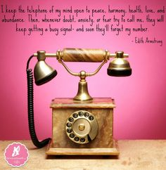 I Keep the Telephone Of My Mind Open To Only Positives