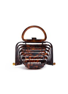 Cult Gaia - 'Acrylic Lilleth' caged sculptural clutch    US$365