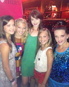 Brooke Hyland, Paige Hyland, Friend, Maddie Ziegler, and Kendall Vertes!