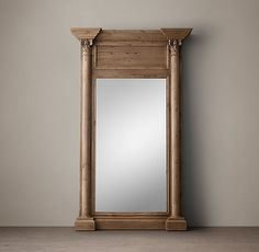 19th C. French Neoclassical Column Mirror