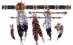 Fresh Native American Feather Band Tattoos