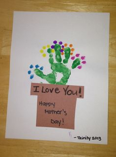 Toddler handprint- mothers day