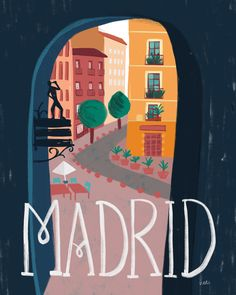 Discover recipes, home ideas, style inspiration and other ideas to try. Art And Illustration, Illustrations Vintage, Madrid, Photo Wall Collage, Vintage Travel Posters, Spain Travel, Belle Photo, Travel Pictures, Poster Prints