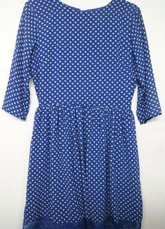 Kup mój przedmiot na #vintedpl http://www.vinted.pl/damska-odziez/krotkie-sukienki/13539010-chabrowa-kobaltowa-rozkloszowana-pensjonarka-romwe-w-kropeczki-koronka