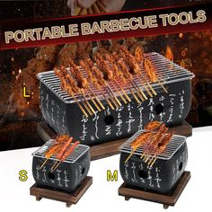 S/M/L Portable Japanese Korean Barbecue Grill Food Carbon Furnace Barbecue Stove Cooking Oven Alcohol Grill Household BBQ Tools Portable Barbecue, Barbecue Grill, Japanese Bbq Grill, Cheap Bbq, Aluminum Table, Stainless Steel Grill, Charcoal Bbq, Bbq Tools, Bbq Grill