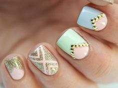 Studded Pastel Nails – Born Pretty Store Studded Wheel - Paulinas Passions