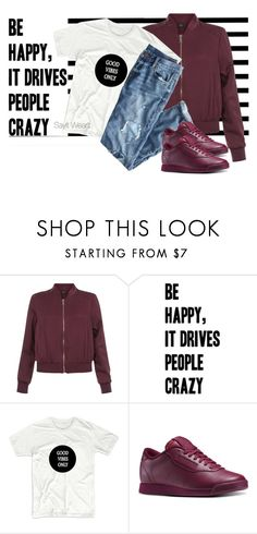 """""""Good Vibes Only"""" by sayitwearit on Polyvore featuring Forum, New Look, J.Crew and Reebok"""