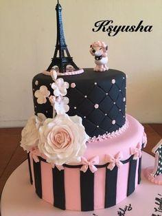 Ideas for birthday cake girls teenager beautiful eiffel towers Paris Birthday Cakes, Paris Themed Cakes, Paris Birthday Parties, Paris Cakes, Paris Party, Pretty Cakes, Beautiful Cakes, Amazing Cakes, Fondant Cakes